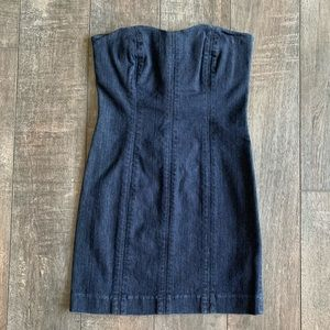 Joe's Jeans Strapless Sweetheart Denim Dress